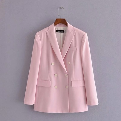 Pink Double Buttoned Blazer NSAM49522
