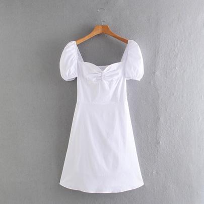 New Fashion White Poplin Dress NSAM49533
