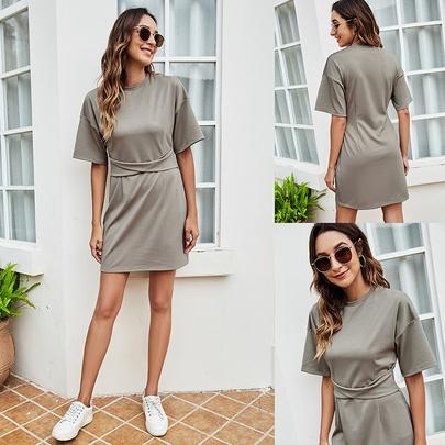 Summer New Sexy Mid-sleeve Dress NSLM49611