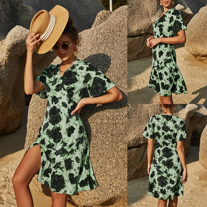 Summer New Casual Printed Dress  NSLM49612
