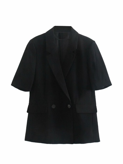 Double-breasted Short-sleeved Blazer  NSAM49723