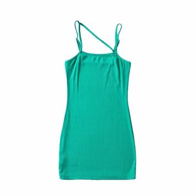 Summer New Solid Color Slim Dress NSHS49802