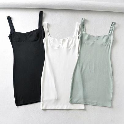 Summer New Fashion U-neck Dress NSHS49803