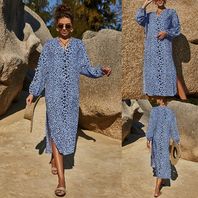 Summer Loose Casual Print Dress NSLM49849