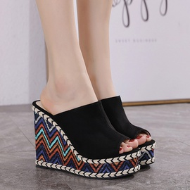Retro Embroidered Wedge Sandals NSSO50107