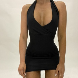 V-neck halterneck sexy halter dress  NSXE50177