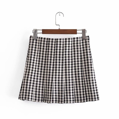 Spring Plaid Mini Skirt NSAM50367