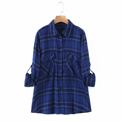 Retro Plaid Loose Casual All-match Shirt NSAM50369