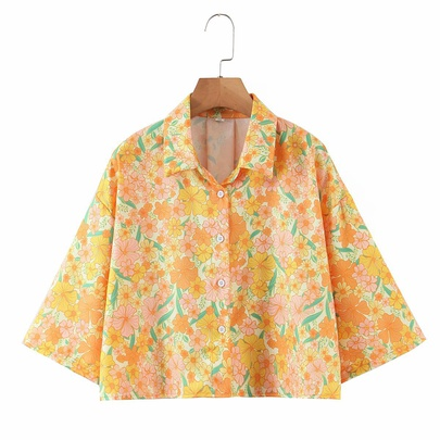 Summer New Floral Print Shirt NSAM50370