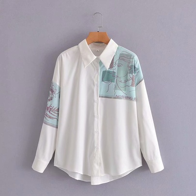New Printing Long-sleeved Shirt NSAM50398