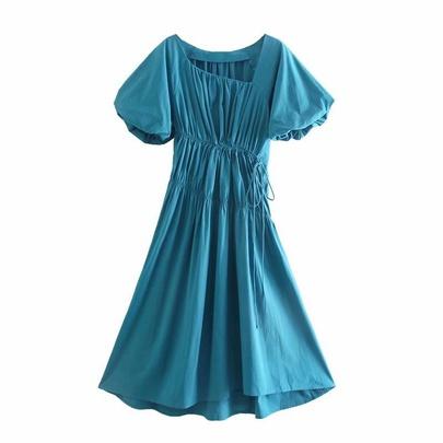 Summer Pleated Treasure Dress  NSAM50405