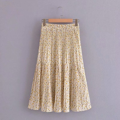 High Waist Floral Skirt  NSAM50412