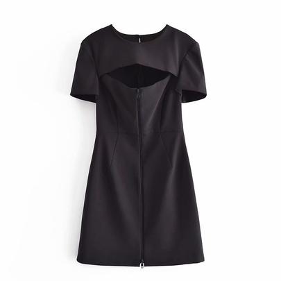 Spring Zipper Open Dress NSAM50414