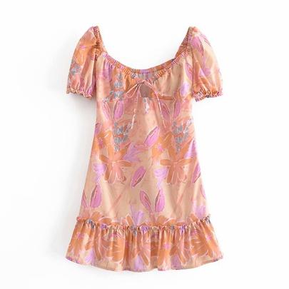 Spring Flower Mini Dress NSAM50423
