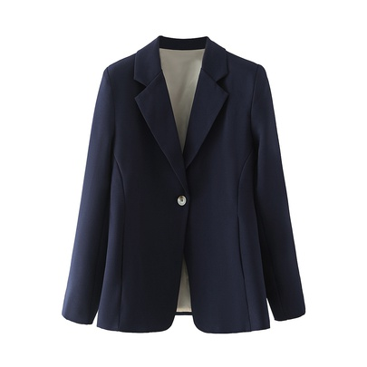 One-button Long-sleeve Suit Jacket  NSAM49767