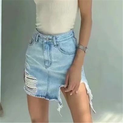 New High Waist Short Denim Skirt NSHS50533
