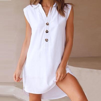 Spring Summer Loose Solid Color Dress NSKL50592