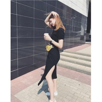 Summer Short-sleeved Long Skirt  NSYKD50643