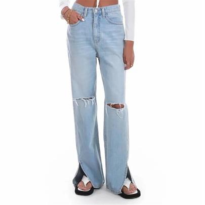 New High-waisted Denim Pants NSAC50787
