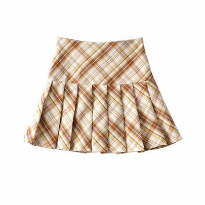 Sexy High Waist Pleated Skirt  NSAC50814