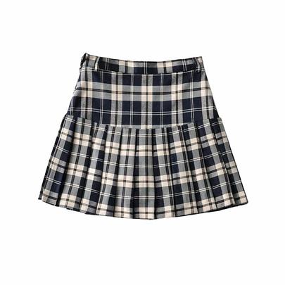 Retro High-waist Short Skirt  NSAC50828