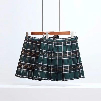 Summer Retro Pleated Skirt  NSAC50837