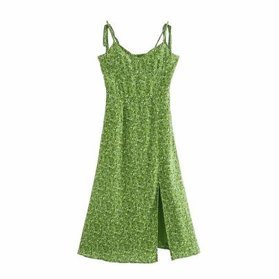 Summer New Floral Print Mid-length Dress NSAC50844