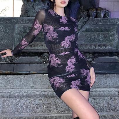 Sexy Printing New Dress NSMEI50865