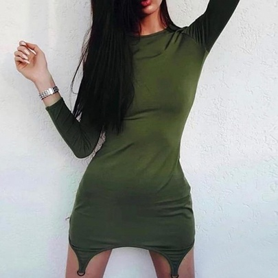 New Autumn Sexy Solid Color Dress NSMEI50886