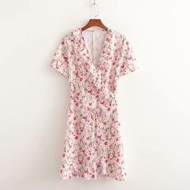 Spring Ruffle Wrap Dress  NSAM47418
