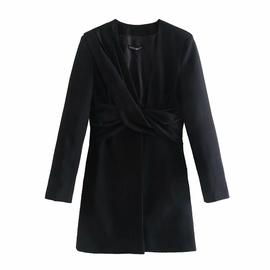 New Pleated Deep V Dress NSAM47419