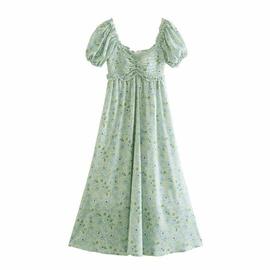 Fashion Flower Printing Loose Dress NSAM47436