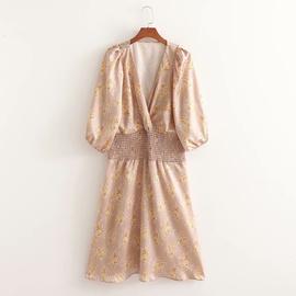 Spring V-neck Loose Elastic Dress NSAM47449