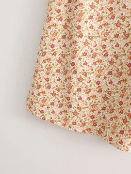 Side Split Floral Mid-length Skirt  NSAM47454