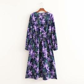 Spring Flower Long Sleeve Dress  NSAM47468