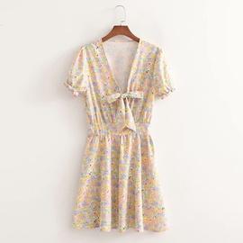 Knot Printing Holiday Dress NSAM47475