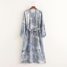 Tie-dye Printing Long-sleeved Dress NSAM47481