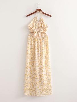 Spring Halter Knotted Dress NSAM47496