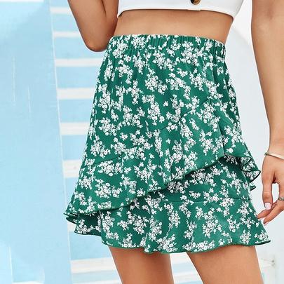 Summer New Printed Short Skirt  NSDF50997