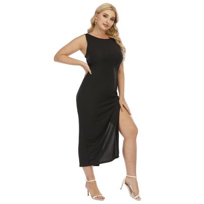 Plus Size Slim Split Dress NSOY51057