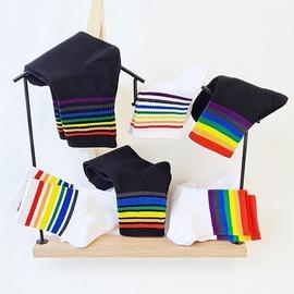Rainbow Striped Long Socks NSFN51083