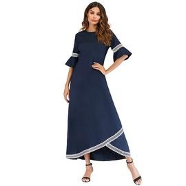 Fashion Lace Stitching Long Dress  NSCX51219