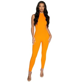 Sexy Tight-fitting Solid Color Jumpsuit  NSFD51232