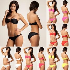 Swimsuit Bikini Swimwear Heavy Gold To Create Quality Golden U-shaped European Size Swimsuit NSLUT53585