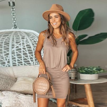 Summer Sleeveless Waist Vest Dress NSKL51663