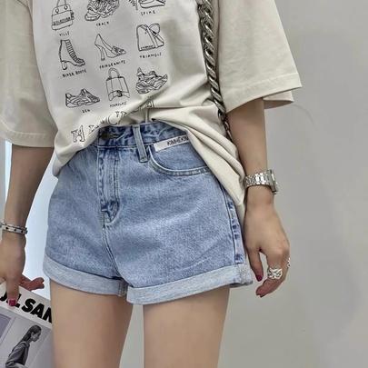 Summer Loose Crimped Denim Shorts  NSAC51723