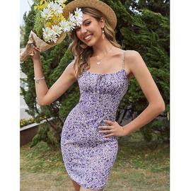 Sexy Halter Floral Sling Short Dress NSJIM53866