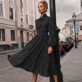 Fashion Long Sleeve Polka Dot Big Swing Dress NSJIM53875