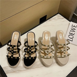 Summer New Style Studded Decor Wedge Sandals NSCA52200