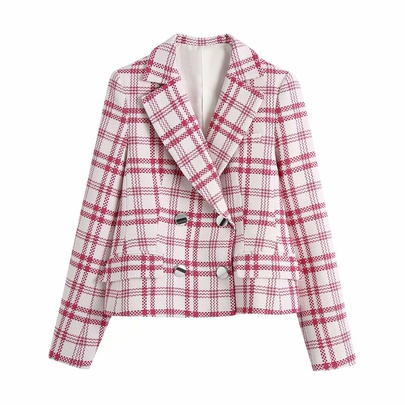 Wholesale Spring Plaid Texture New Fashion Blazer NSAM52393